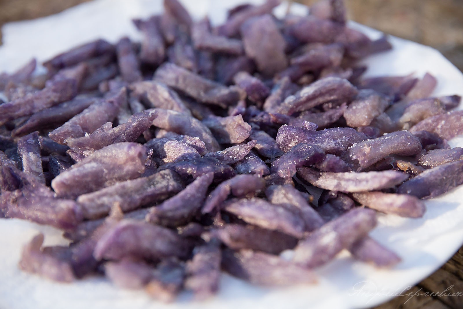 Одна из разновидностей - фиолетовая картошка